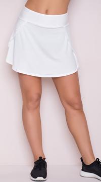 Yandy Jersey Skort - White