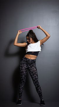 Yandy Marbled Active Gym Set - as shown