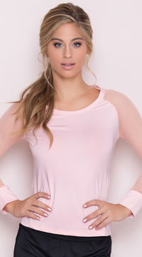 Yandy Fitted Active Top - Peach