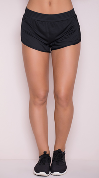 Yandy Netted Gym Shorts - Black