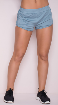 Yandy Netted Gym Shorts - Blue