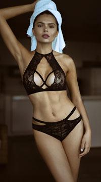 Yandy Pretty Please Bralette Set - Black