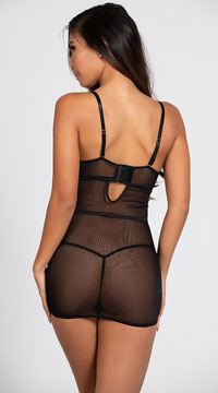 Yandy Bright Like A Diamond Chemise Set - Black