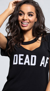 Yandy Dead AF Dress Costume - Black