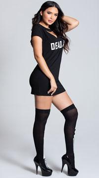 Yandy Dead AF Dress Costume - Black