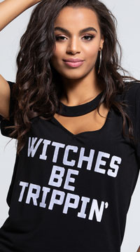 Yandy Witches Be Trippin Dress Costume - Black