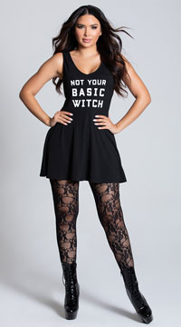 Yandy Not Your Basic Witch Dress Costume - Black