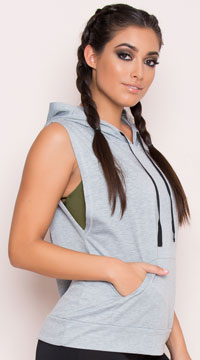 Yandy Pullover Hoodie - Heather Grey