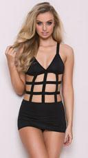Yandy Black Cage Dress - Black
