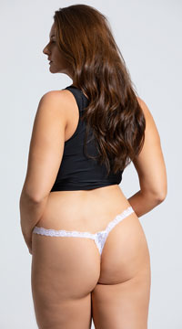 cfb167ff92d ... Yandy Plus Size Low Rise Lace Thong - White ...