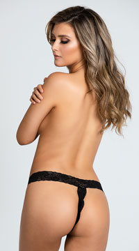 Yandy Show Me Love Thong - Black