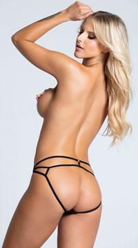 Yandy Strappy Back Panty - Black