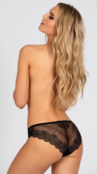 Yandy Affection Cheeky Panty - Black