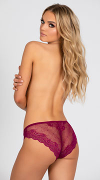 Yandy Affection Cheeky Panty - Wine