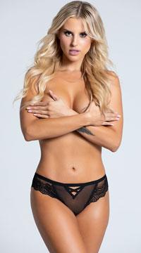 Yandy Affection Cheeky Panty - Black