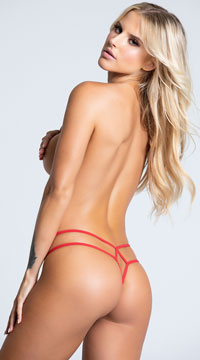 Yandy Double Trouble Thong - Red