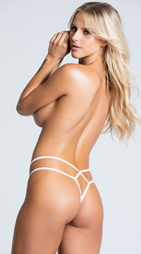 Yandy Double Trouble Thong - White