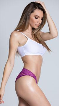 Yandy Full Back Lace Panty - Purple Rain