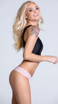 Yandy Soft Lace Thong Panty - as shown