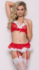 Jingle All the Way Bra Set - Red