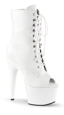 7 Inch Heel, 2 3/4 Inch Pf, Peep Toe Lace-up Ankle Boot - as shown