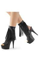 Suede Fringed Ankle Boot - as shown