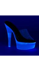 Triple Toned Neon Slide - Clear/Neon Multi Blue