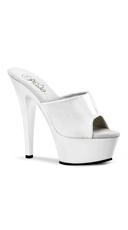 Spike Heel Sandal - White Patent