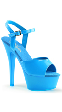 Neon Kiss Platform - Neon Blue/Blue