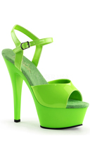 Neon Kiss Platform - Neon Green/Green