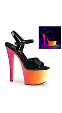UV Reactive Ombre Platforms - Black Pat/Neon Multi