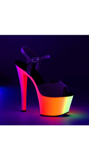 UV Reactive Ombre Platforms - Black Pat/Neon Multi