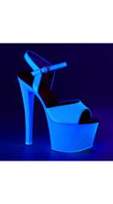 Neon UV Reactive Sky Platform - Neon Blue/Blue