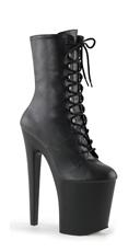 Xtreme Lace Up Boot - Black Faux Leather/Black Matte
