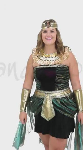 Plus Size Egyptian Goddess Costume, Plus Size Cleopatra Halloween ...