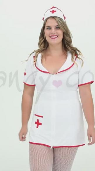 Plus Size Sexy Head Nurse Costume, Plus Sized Naughty Nurse Costume-4480